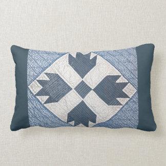 Coussin Rectangle Édredon bleu et blanc