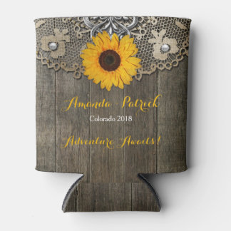 Coutry Rustic Sunflower Lace Wedding  Cooler