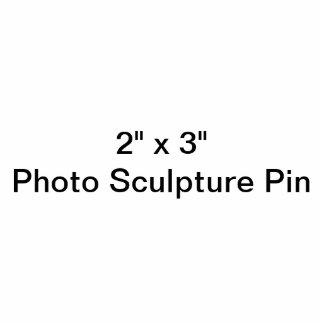 """Coutume 2"""" x 3"""" Pin de sculpture en photo Macaron Photo Sculpture"""