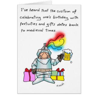 Coutume d'anniversaire carte de vœux