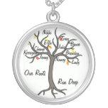 Coutume de collier d'arbre généalogique jusqu'à 10