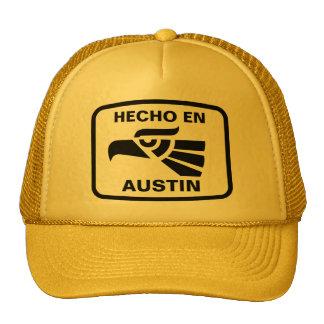 Coutume de personalizado d en Austin de Hecho pers Casquette
