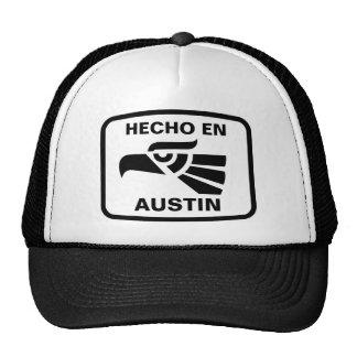 Coutume de personalizado d en Austin de Hecho pers Casquettes