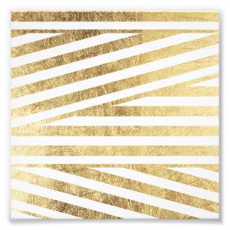 Coutume géométrique de motif de rayures de feuille photographe