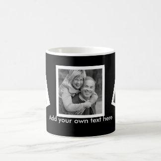 Coutume inclinée de photos personnalisée avec le mug blanc