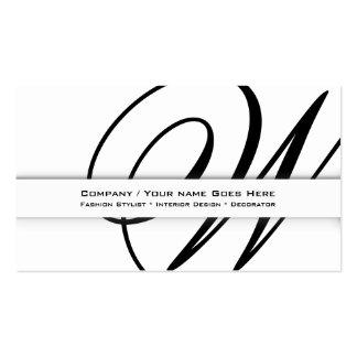 COUTUME professionnelle d affaires du monogramme Cartes De Visite Personnelles