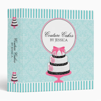 Couture Cakes Aqua Bakery 1.5 Inch Binders