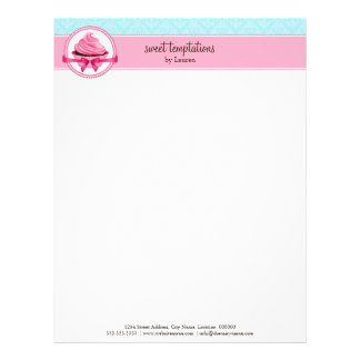 Couture Cupcake Bakery Business Letterhead