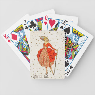 COUTURE. FASHION, VINTAGE FRENCH BELLE EPOQUE BICYCLE PLAYING CARDS