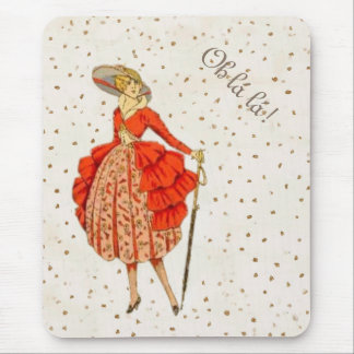 COUTURE. FASHION, VINTAGE FRENCH BELLE EPOQUE MOUSE PAD