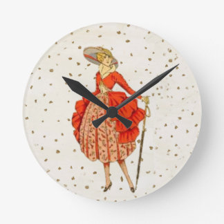 COUTURE. FASHION, VINTAGE FRENCH BELLE EPOQUE ROUND CLOCK