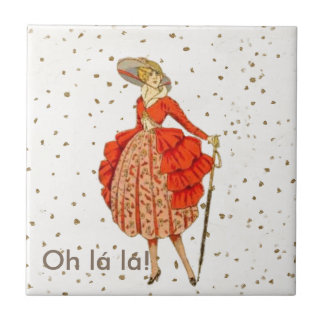 COUTURE. FASHION, VINTAGE FRENCH BELLE EPOQUE TILE