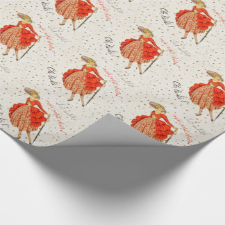 COUTURE. FASHION, VINTAGE FRENCH BELLE EPOQUE WRAPPING PAPER
