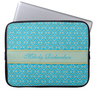 Couture inspired named blue 15 inch laptop case