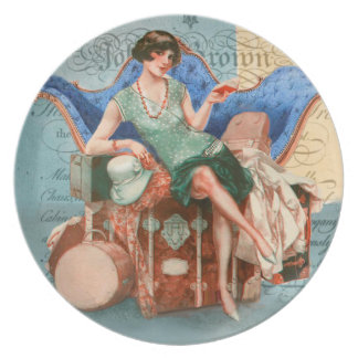 COUTURE PLATE CHARLESTON 20s RETRO FASHION GLAMOUR