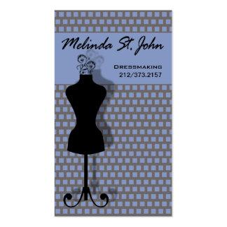 Couturier de couture de mannequin de couturière carte de visite