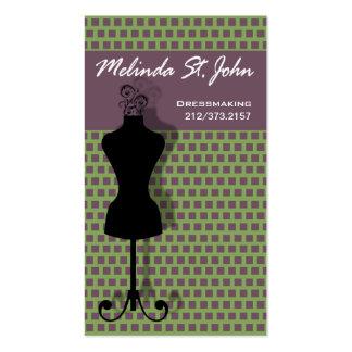 Couturier de couture de mannequin de couturière modèles de cartes de visite