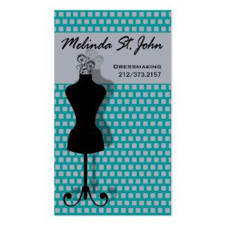 Couturier de couture de mannequin de couturière cartes de visite professionnelles