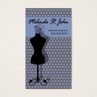 Couturier de couture de mannequin de couturière cartes de visite