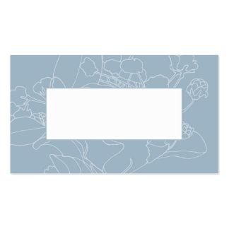 Couvert floral de table de mariage (bleu de modèle de carte de visite
