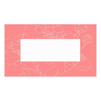 Couvert floral de table de mariage (corail) carte de visite