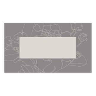 Couvert floral de table de mariage (naturel) cartes de visite personnelles