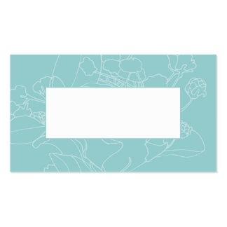 Couvert floral de table de mariage (vert d'océan) modèle de carte de visite
