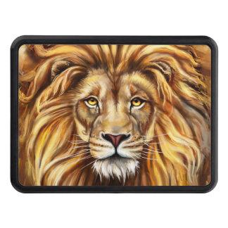 Couverture artistique d'accroc de visage de lion couverture d'attelage de remorque