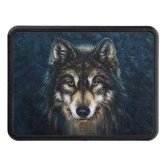 Couverture artistique d'accroc de visage de loup couvertures d'attelage de remorque