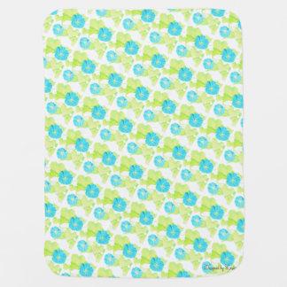 Couverture bleue de bébé de jardin de gloire de couvertures de bébé