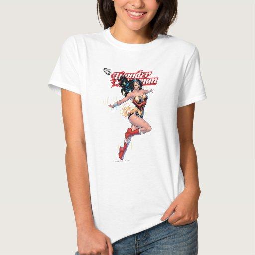 Couverture comique de femme de merveille tshirts