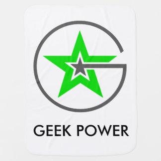 Couverture de bébé de puissance de geek
