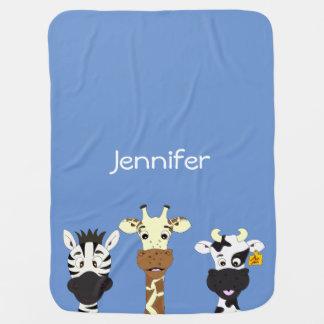 Couverture drôle de bébé de nom de bande dessinée couvertures pour bébé