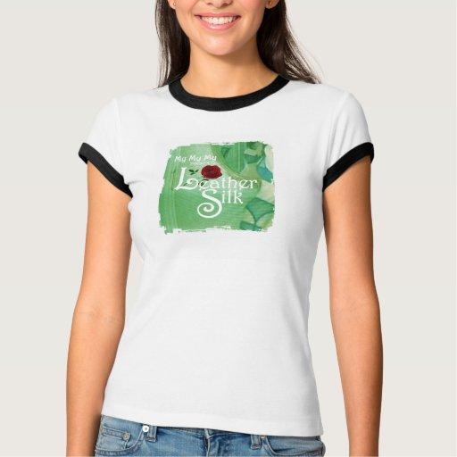 Couverture en soie en cuir t shirt