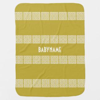 Couverture faite sur commande de bébé de motif gre couverture de bébé