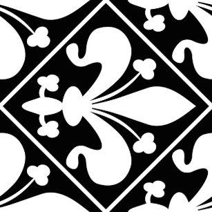 Image Fleur De Lys Noir Et Blanc