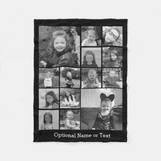 Couverture Polaire Collage de photo d'Instagram - jusqu'à 14 photos