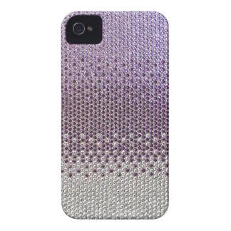 Couverture pourpre de Bling de scintillement Coque Case-Mate iPhone 4