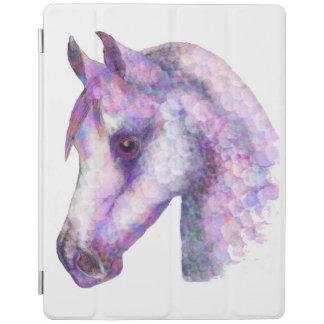 Couverture rose d'écran d'iPad de poney de Rosie Protection iPad