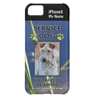 Couverture verte du chien iPhone5 de service de Coque iPhone 5C