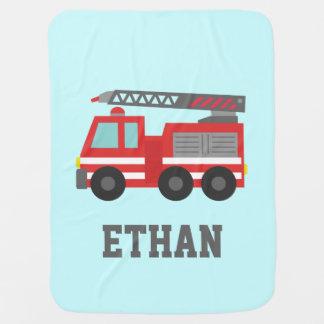 Couvertures Pour Bébé Camion de pompiers rouge mignon pour de petits