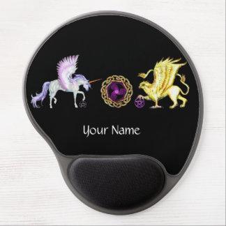 Coven Symbol Spiral Essence Unicorn Griffon Celtic Gel Mouse Pad