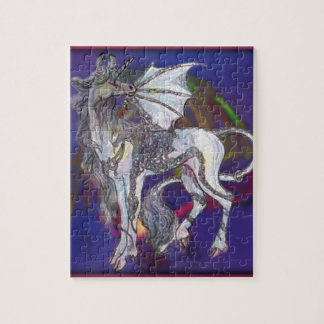 Coven Symbol Spiral Essence Unicorn Griffon Celtic Jigsaw Puzzle