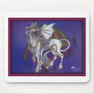 Coven Symbol Spiral Essence Unicorn Griffon Celtic Mouse Pad