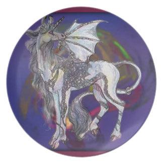 Coven Symbol Spiral Essence Unicorn Griffon Celtic Plate