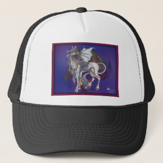 Coven Symbol Spiral Essence Unicorn Griffon Celtic Trucker Hat