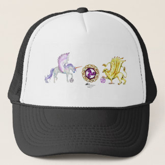 coven symbol spiral essence unicorn griffon trucker hat