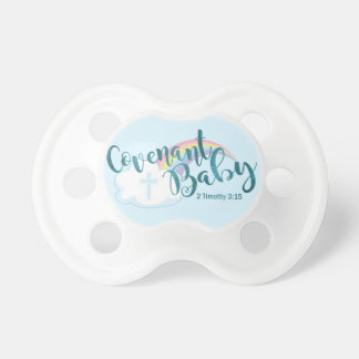 """Covenant Baby"" BooginHead® Pacifier (White/Teal)"