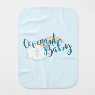 """Covenant Baby"" Teal Burp Cloth"