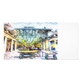 Covent Garden Market London Art Photo Card Template